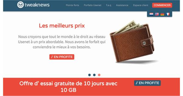 Avis et test fournisseur tweaknews