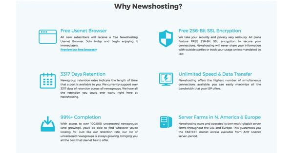 Avis et test newshosting